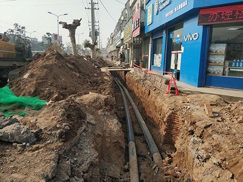 西安市临潼区新丰街道饮用水PE给水管工程案例